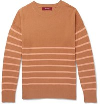 Sies Marjan Kyle Striped Cashmere Sweater Camel
