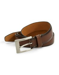 Black Brown Faux Leather Belt Beige