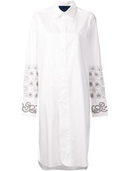 Sharon Wauchob Asymmetric Embroidered Shirt Dress White