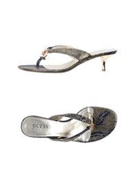 Guess By Marciano Thong Sandals Blue