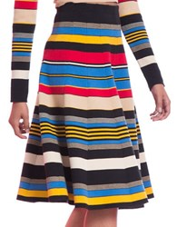 Tracy Reese Gored A Line Skirt Multi