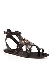 Ivy Kirzhner Starfish Caged Flat Sandals Black