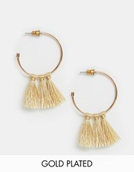 Pilgrim Rose Gold Plated Tassle Hoop Earrings
