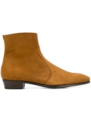 Lidfort Almond Toe Ankle Boots Leather Brown