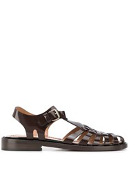 Marni Crisscross Sandals Brown