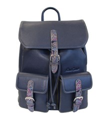 Robert Graham Paisley Leather Backpack Navy