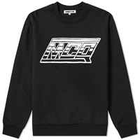Mcq By Alexander Mcqueen Motor Logo Crew Sweat Black
