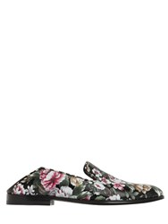 Alexander Mcqueen 20Mm Flower Print Leather Loafers