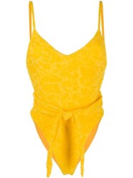 Mara Hoffman Floral Embroidered Belted Swimsuit 60
