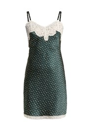 Morpho Luna Margot Silk Nightdress Green Print