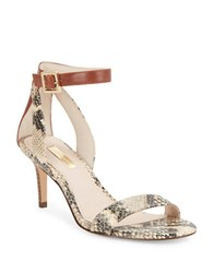 Louise Et Cie Hyachinth Open Toe Stiletto Sandals Brown