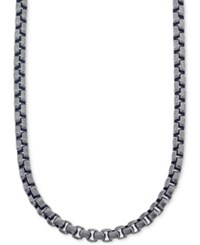 Esquire Men's Jewelry Antique Look Link Chain Necklace In Gunmetal Ip Over Stainless Steel First At Macy's