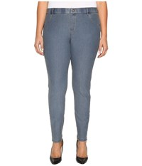 Hue Plus Size Essential Denim Leggings Stone Acid Wash Women's Jeans Blue