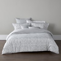 Christy Sumatra Duvet Set Silver