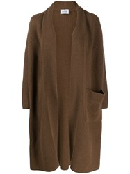 Salvatore Ferragamo Gancini Cardi Coat Brown