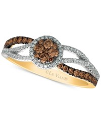 Le Vian Chocolatier Diamond Twist Ring 1 2 Ct. T.W. In 14K Gold And White Gold Two Tone