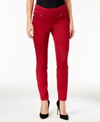 Jag Petite Nora Pull On Super Soft Skinny Jeans Red Ruby