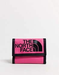 The North Face Base Camp Wallet In Dark Pink