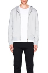 Calvin Klein Collection Koen Hooded Sweatshirt With Perforated Back In Gray