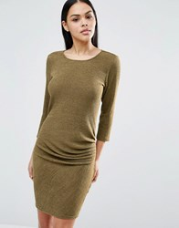 Pussycat London 3 4 Sleeve Mini Dress Khaki Green
