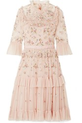 Needle And Thread Lustre Tiered Embellished Tulle Dress Blush Usd
