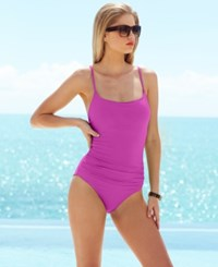 Anne Cole Classic Ruched One Piece Swimsuit Women's Swimsuit