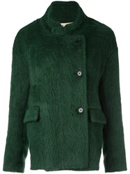 Marni Mandarin Collar Jacket Green