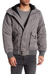 Bench Pallor Hooded Bomber Jacket Gray