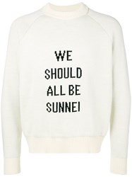 Sunnei We Should All Be Sweater White