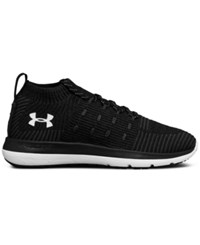 Under Armour Women's Threadborne Slingflex Rise Running Sneakers From Finish Line Black White Metallic Silv