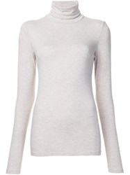 Majestic Filatures Basic Turtleneck Blouse Grey