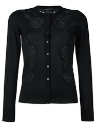 Dolce And Gabbana Lace Detail Cardigan Black