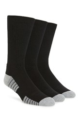 Under Armour Men's Heatgear 3 Pack Crew Socks Black