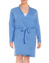 Lord And Taylor Plus Cotton Robe Persian Jewel