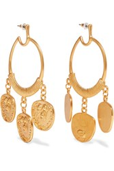 Kenneth Jay Lane Gold Plated Earrings One Size Gbp