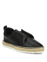 Pierre Hardy Sliderdrille Leather Espadrille Sneakers Black