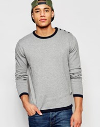 Jack And Jones Jack And Jones Knitted Jumper In Crew Neck Grey