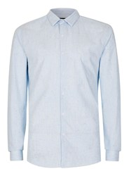 Topman Light Blue Neppy Slim Fit Smart Shirt