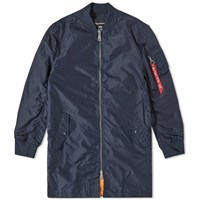 Alpha Industries Ma 1 Tt Long Bomber Blue