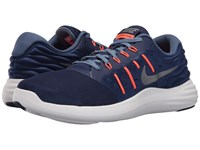 Nike Lunarstelos Loyal Blue Metallic Cool Grey Ocean Fog Total Orange Men's Running Shoes