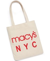 Macy's World Largest Store Canvas Tote Only At Cream