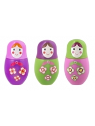 Matryoshka Lip Gloss Set Of 3 Only 14.99 Unique Gifts And Home Decor Karma Kiss