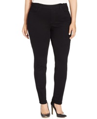 Charter Club Plus Size Pull On Skinny Jeans Saturated Black Wash