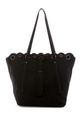T Shirt And Jeans Grommet Tote Black