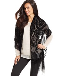 Styleandco. Style And Co. Paisley Velvet Evening Wrap Navy