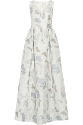Tory Burch Patterned Jacquard Gown