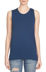 1.State Women's Open Back Tank Military Navy