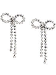 Ca And Lou Louise Bow Earrings Silver