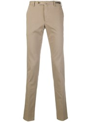 Pt01 Side Fastened Tailored Trousers Nude And Neutrals