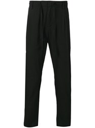 Paolo Pecora Drawstring Tapered Trousers Black